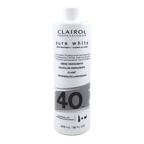 Clairol Pure White DEVELOPER 40V 16 oz - Textured Tech