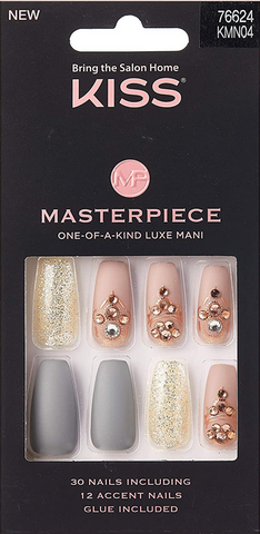 KISS MASTERPIECE  ONE-OF-A-KIND LUXE MANI KMN04 - Textured Tech