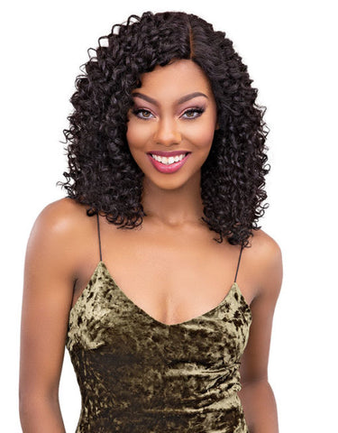 JANET COLLECTION REMY DEEP PART LACE WIG NATURAL BOHEMIAN - Textured Tech
