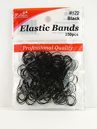 PLASTIC ELASTIC HAIR BANDS #122 - Textured Tech