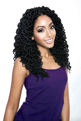 "AFRI-NAPTURAL CURLED FAUX LOCS 14"" - Textured Tech"
