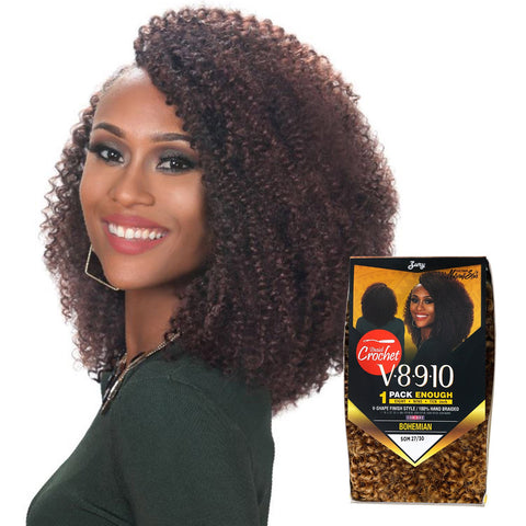 ZURY V8910 BOHEMIAN CROCHET BRAID - Textured Tech