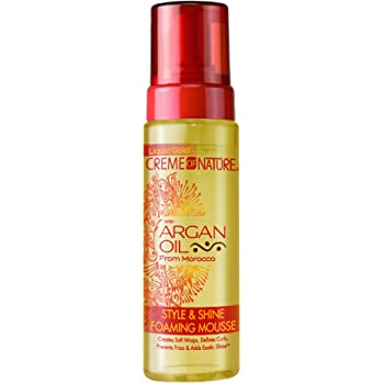 CREME OF NATURE ARGAN OIL STYLE & SHINE FOAMING MOUSSE - Textured Tech