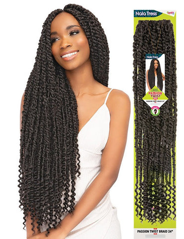"Janet Collection Crochet Braids Nala Tress PASSION TWIST 24"" - Textured Tech"