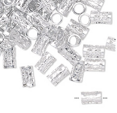 Silver Braid Charm Accessories (long) (34 pieces) - Textured Tech