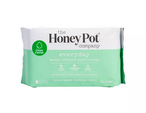 HONEY POT EVERYDAY HERBAL INFUSED PANTILINERS 30 CT. - Textured Tech