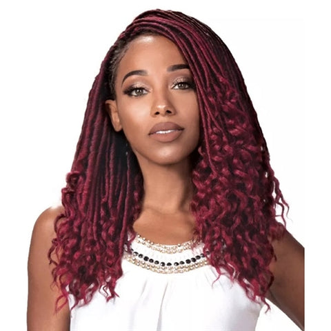 Zury Synthetic Hair Crochet Braids Zury Loc Loose Wave (Goddess Loc) - Textured Tech