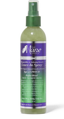 THE MANE CHIOCE HAIR TYPE 4 LEAF CLOVER LEAVE-IN SPRAY - Textured Tech