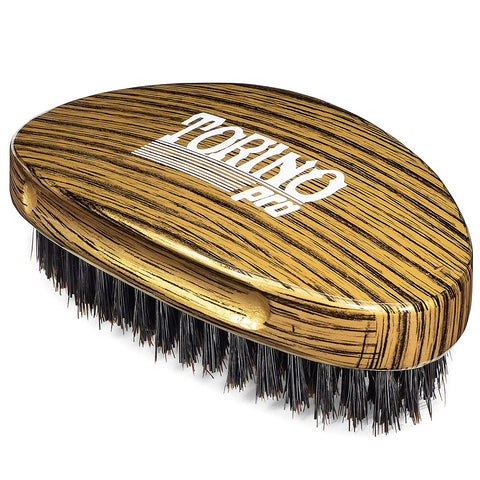 Torino Pro Medium Hard Palm Curve Wave Brush  #1780-360 Curved Medium Hard Palm - Textured Tech