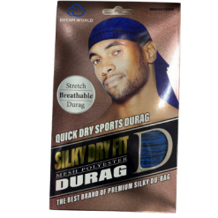 DREAM WORLD QUICK DRY SPORTS DURAG (BLACK) - Textured Tech