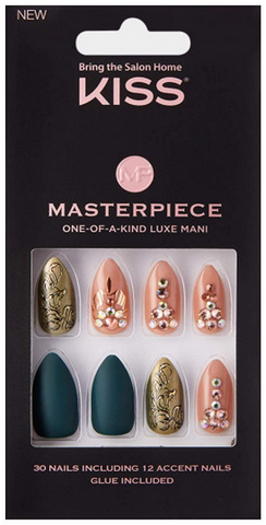 KISS MASTERPIECE  ONE-OF-A-KIND LUXE MANI KMN03 - Textured Tech
