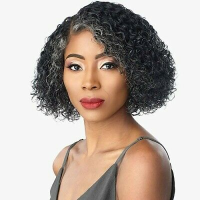 Sensationnel Empire 100% Human Hair Salt & Pepper Series Wig JONI - Textured Tech