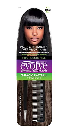 FIRSTLINE EVOLVE 2 PACK RAT TAIL COMB SET - Textured Tech