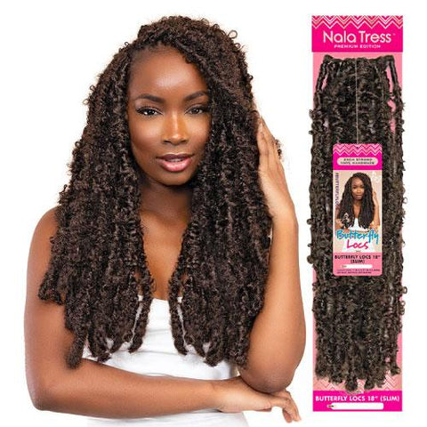 JANET COLLECTION BUTTERFLY LOCS (SLIM) - Textured Tech
