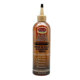 AFRICAN PRIDE BLACK CASTOR BRAID & SCALP CLEANSING RINSE 12 OZ