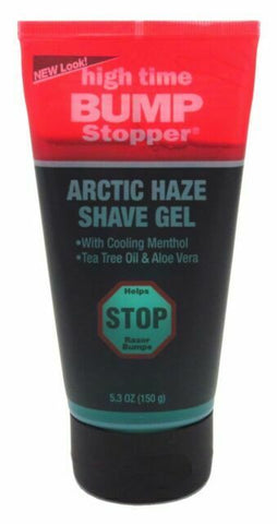 HIGH TIME BUMP STOP MED SHAVING GEL TUBE 5.3 OZ - Textured Tech