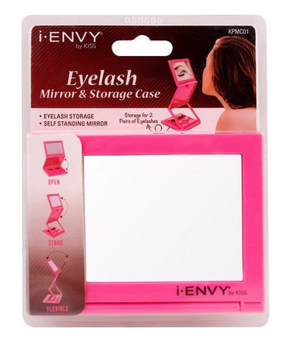 iENVY MIRROR & EYELASH STORAGE CASE - Textured Tech
