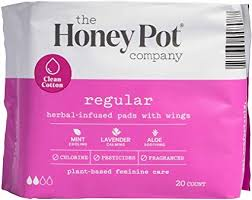 The Honey Pot Regular Pads 20count - Textured Tech