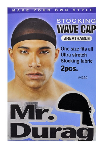 MR.DURAG STOCKING WAVE CAP - Textured Tech
