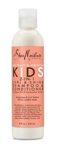 SheaMoisture Coconut & Hibiscus Kids 2-in-1 Curl & Shine Shampoo & Conditioner 8OZ - Textured Tech