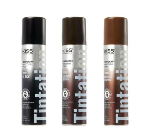 KISS TEMPORARY HAIR COLOR SPRAY - Textured Tech
