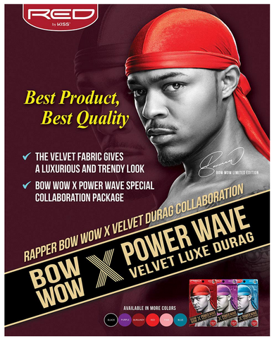 360 POWER WAVE X BOW WOW VELVET LUXE DURAG - Textured Tech