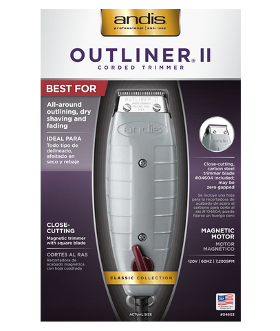 ANDIS TRIMMER OUTLINER II - Textured Tech