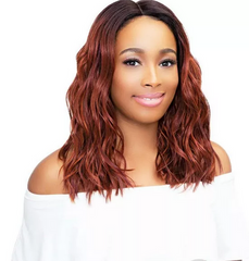 JANET COLLECTION LEONA LACEFRONT SYNTHETIC WIG - Textured Tech