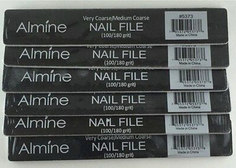 WIDE ALMINE  NAIL FILE 100/180 GRIT (One piece)