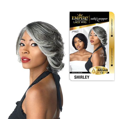 Sensationnel Empire 100% Human Hair Salt & Pepper Series Wig SHIRLEY - Textured Tech