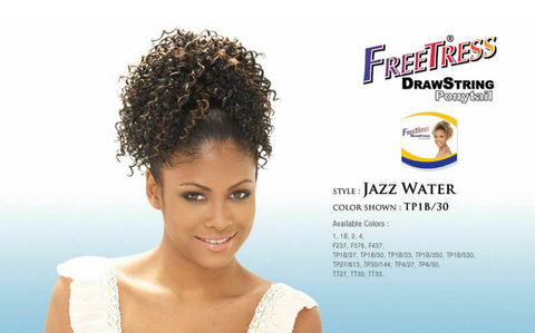 FREETRESS DRAWSTRING PONYTAIL - JAZZ WATER - Textured Tech
