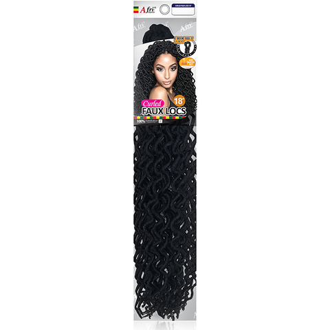 "AFRI-NAPTURAL CURLED FAUX LOCS 18"" - Textured Tech"