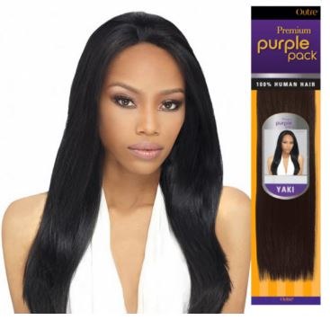 OUTRE PREMIUM PURPLE PACK YAKI HUMAN HAIR