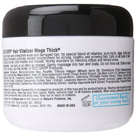 Doo Gro Mega Thick Hair Vitalizer  4oz - Textured Tech