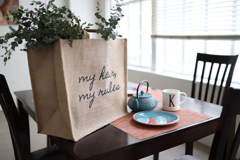 My Hair, My Rules Tote Bag - Textured Tech