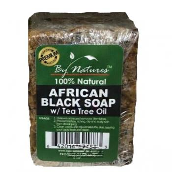 Natures African Black Soap Tea Tree Oil 6 oz - Textured Tech