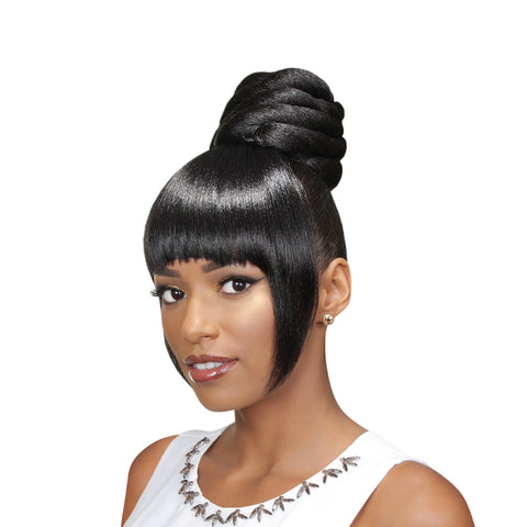 EVE HAIR CASABLANCA FRINGE BUN 2IN1 FB-AMI - Textured Tech