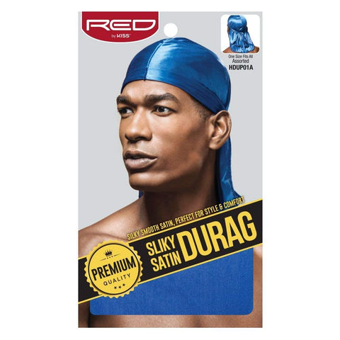 RED PREMIUM SILKY SATIN DURAG (ROYAL BLUE) - Textured Tech