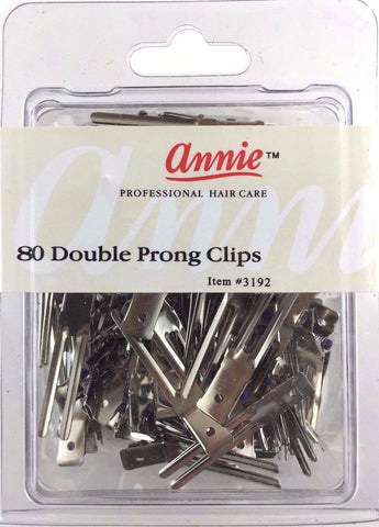 ANNIE 80 COUNT DOUBLE PRONG CLIPS #3192