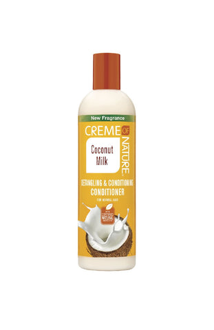 CREME OF NATURE COCONUT MILK DETANGLING & CONDITIONING CONDITIONER 12OZ - Textured Tech