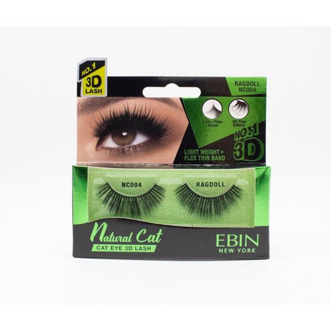 EBIN NATURAL CAT 3D LASHES (CHOOSE STYLE) - Textured Tech