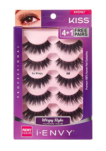 IENVY SO WISPY HUMAN HAIR LASHES 5 PACK - Textured Tech