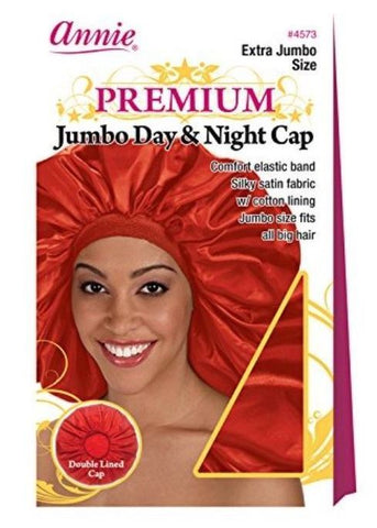 Ms Remi Extra Jumbo Day & Night Cap RED #4573 - Textured Tech