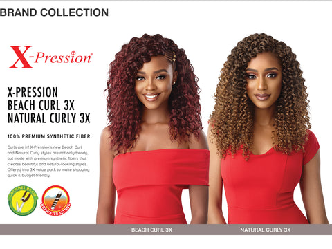 "X-PRESSION 3X NATURAL CURLY 14"" - Textured Tech"