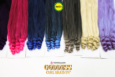 "RastaFri Goddess Curl Braid 54"" PreStretch - Textured Tech"