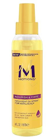 MOTIONS NOURISH & CARE INDULGENT OIL SPRAY 4 OZ - Textured Tech