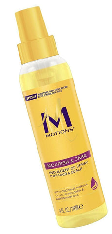 MOTIONS indulgent oil spray for hair and scalp 4oz - Textured Tech