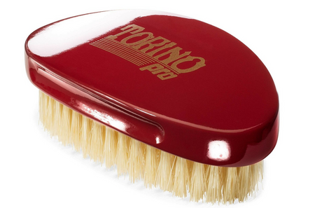Torino Pro Wave Brush #1500-Curved Medium palm 360 Waves Hair Brush - Textured Tech