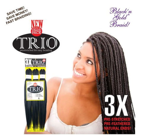 3X TRIO PRESTRETCHED BRAIDING HAIR - Textured Tech