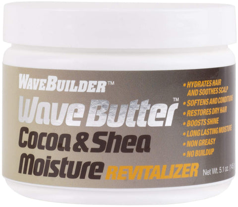 WAVE BUILDER  COCOA & SHEA WAVE BUTTER 5.1oz - Textured Tech